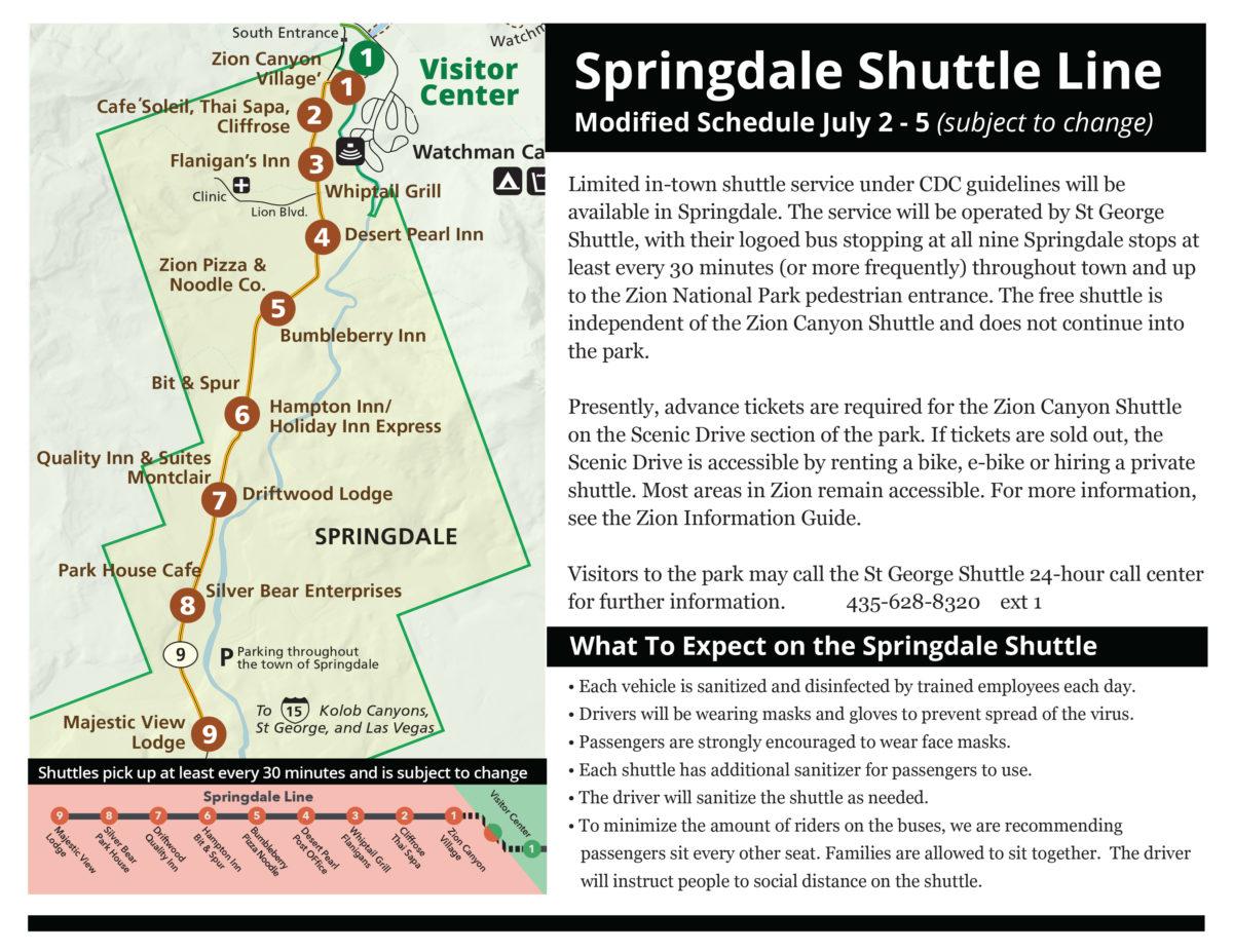 Springdale Shuttles Info