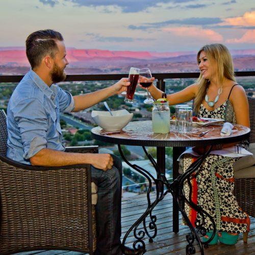 einzigartig größer Zion Dining Cliffside Restaurant Stgeorge Paar Dining
