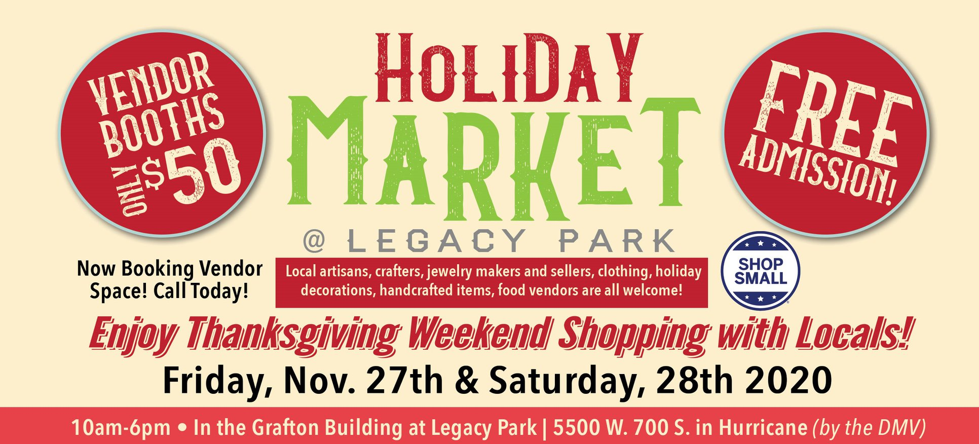 holiday market at legacy