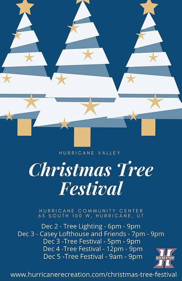 hurricane rec tree festival flyer