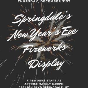 Springdale fireworks display
