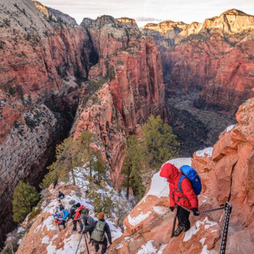 Vienas iš didžiausių Amerikos nacionalinių parkų šią žiemą yra beveik tuščias