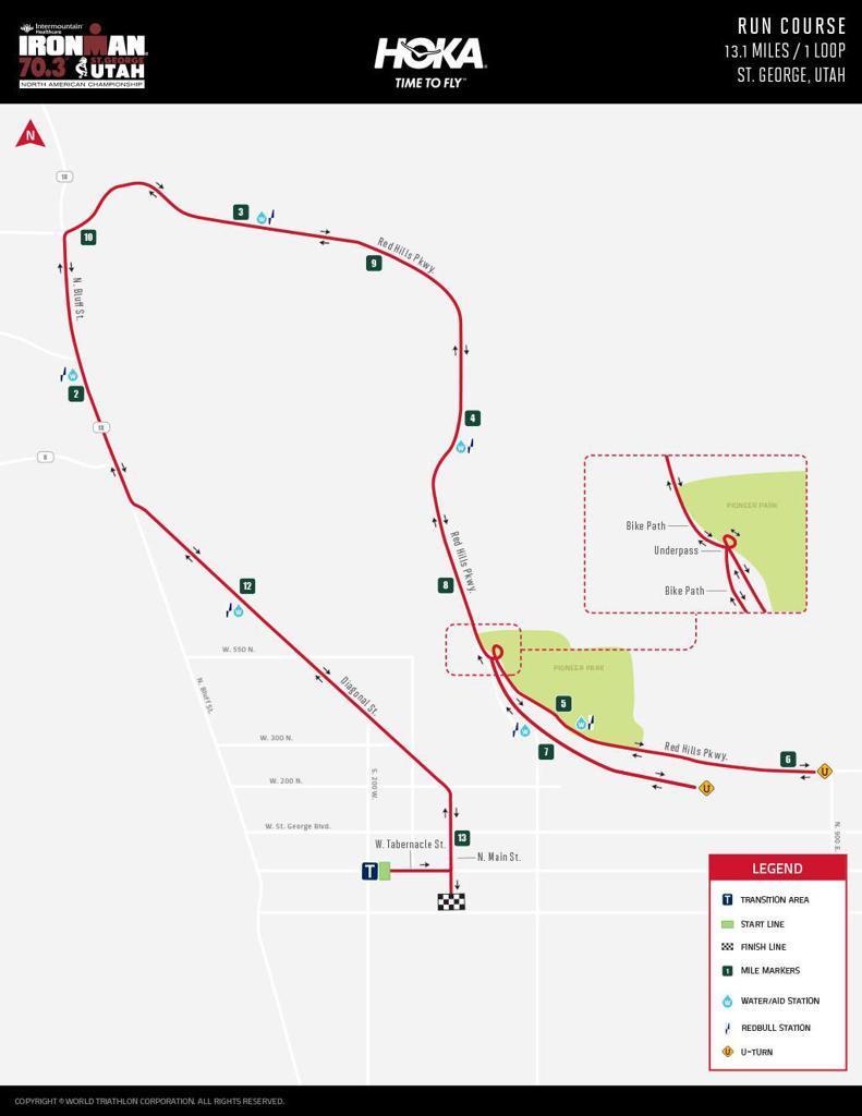 IRONMAN Run Course