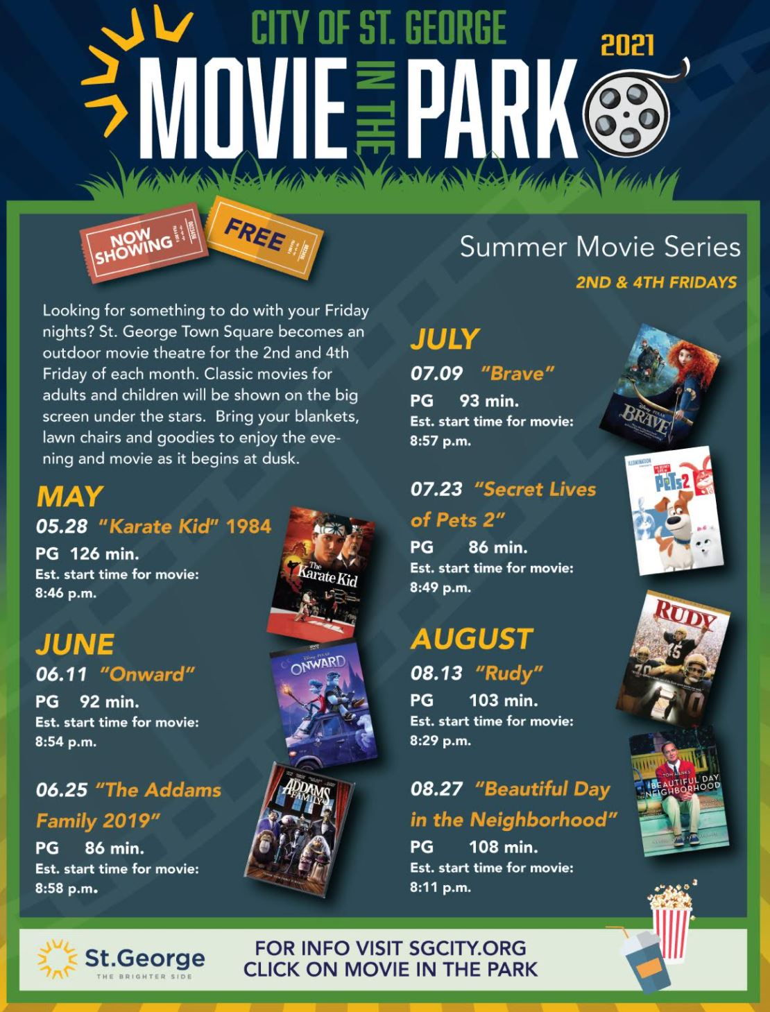 st george city movie in the park