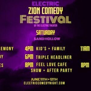 electric comedy festival june 1