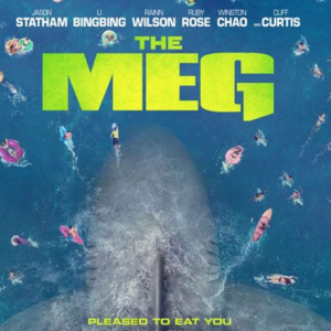 the meg movie in the pool