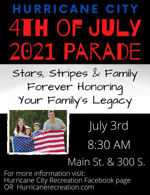 hurricane city 4th of july parade